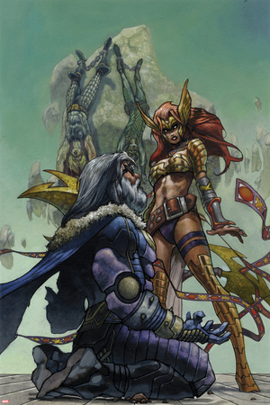 Original Sin No. 5.5 Cover, Featuring: Odin, Loki, Thor, Angela Posters by Simone Bianchi