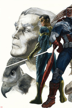 All-New Captain America:Fear Him No. 3 Cover, Featuring: Ian Zola , Falcon Cap, Redwing and More Prints by Simone Bianchi