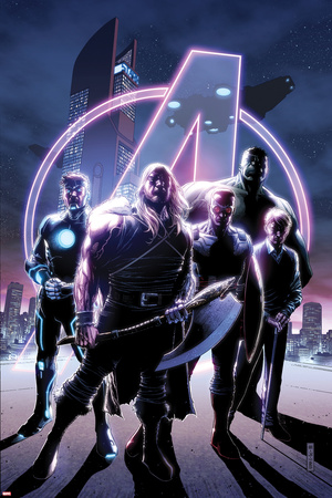 Avengers No. 35 Cover, Featuring: Thor, Havok, Falcon Cap, Hulk, Steve Rogers Posters by Jim Cheung