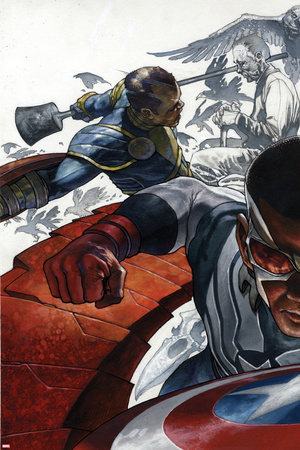 All-New Captain America: Fear Him No. 1 Cover, Featuring: Falcon Cap, Ian Zola Posters by Simone Bianchi