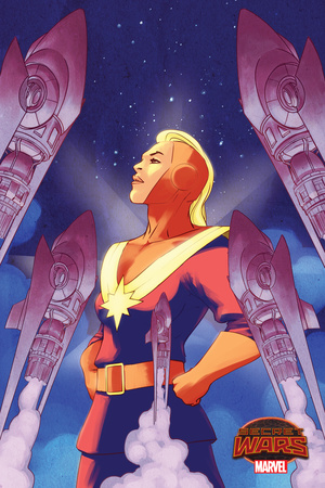 Marvel Secret Wars Cover, Featuring: Captain Marvel Posters