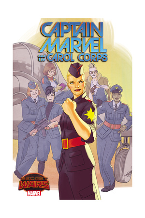 Marvel Secret Wars Cover, Featuring: Captain Marvel, Carol Corps Prints