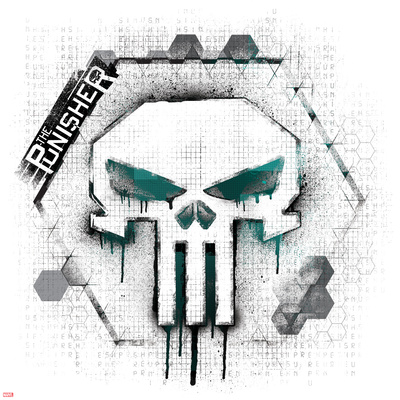 Punisher skull symbol Punisher art merchandise