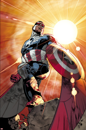 All-New Captain America No. 1 Cover, Featuring: Falcon Cap Posters by Stuart Immonen
