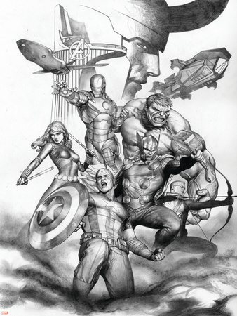 The Avengers Assemble Prints