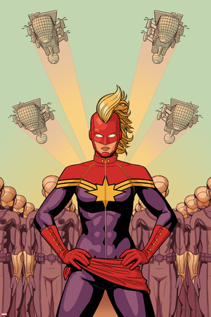 Avengers No. 37 Cover, Featuring: Captain Marvel Poster by Jamie McKelvie