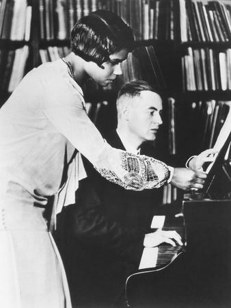 Marian Anderson with Her Coach, Prof. Kurt Johnen, in Berlin, 1931 Photo