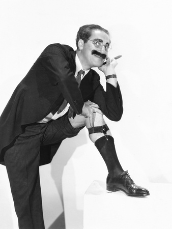 Groucho Marx Strikes an Alluring Pose Photo