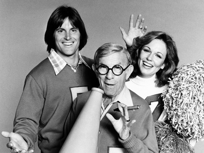 Bruce Jenner, George Burns and Phyllis George Photo