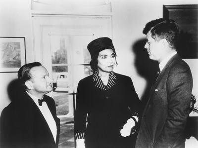 Marian Anderson and Her Accompanist Franz Rupp Welcomed by President John Kennedy Photo