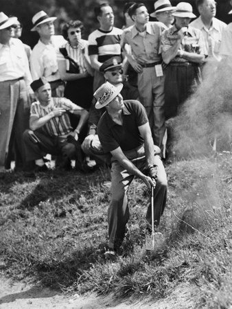 Sam Snead Makes an Iron Shot from the Side of a Sand Trap Photo