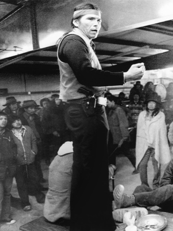 Dennis Banks, Speaks to the Indians During the Occupation Wounded Knee in 1973 Photo