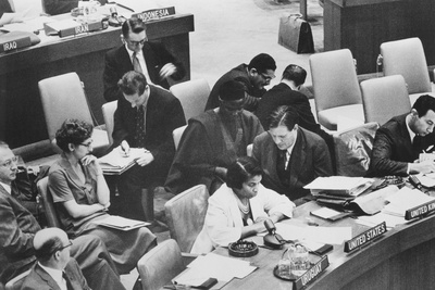 Marian Anderson, African American Opera Singer, as a Delegate at the United Nations Photo