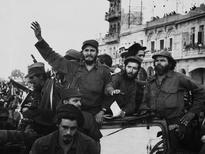 Fidel Castro, with His Fellow Revolutionaries, Entering Havana on January 8, 1959 Photo