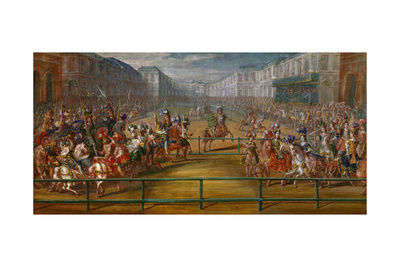 Carousel Tournament of Amazons, 1662 Giclee Print by Jean Baptiste Martin
