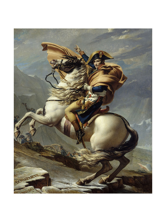Napoleon Crossing the Alps at the St. Bernard Pass, May 20, 1800 Giclee Print by Jacques Louis David