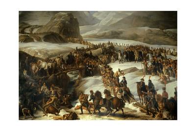 French Army Crossing Grand Saint Bernard Pass, May 20, 1800. Charles Thevenin 1806 Giclee Print by Charles Thevenin