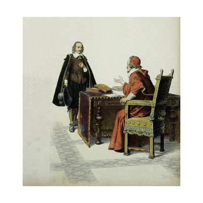 Richelieu Gives Audience to Pierre Corneille and Approves His Marriage Giclee Print by Maurice Leloir