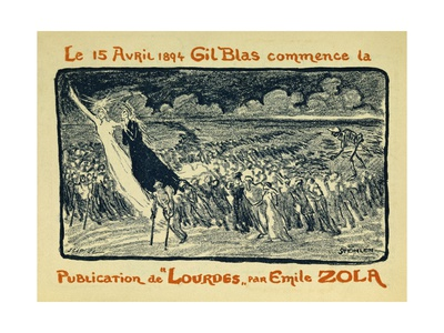 On April 15, 1894 Gil Blas Begins to Publish 'Lourdes' by Emile Zola Giclee Print by Theophile Alexandre Steinlen