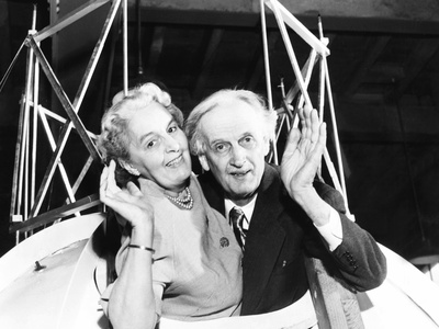 Jean and Jeannette Piccard in the Gondola of Piccard's 1934 Ascension to the Stratosphere Photo