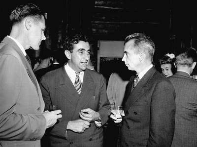 Major Arthur Peterson, Physicist Edward Teller, and Los Alamos Director, Norris Edwin Bradbury Photo