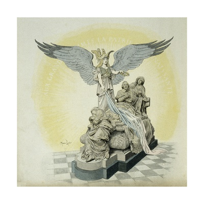 Monument of Richelieu in the Sorbonne Giclee Print by Maurice Leloir