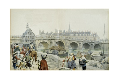 Marie De Medici Leaving Paris for Exile in Blois Giclee Print by Maurice Leloir