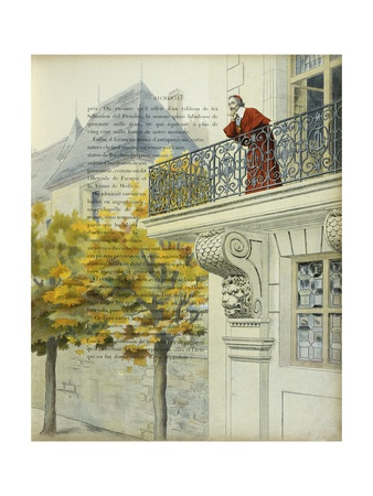 Richelieu on the Balcony of His Palace Giclee Print by Maurice Leloir