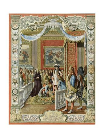 The Levee of the King Louis XIV Giclee Print by Maurice Leloir