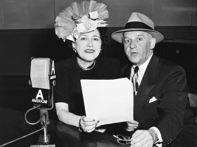 Louella Parsons and Walter Winchell, Syndicated Gossip Columnists in Print and on Radio Photo