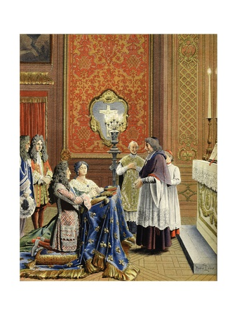 Marriage Between Louis XIV and Madame De Maintenon Giclee Print by Maurice Leloir