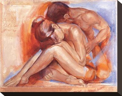 Deep Emotion Stretched Canvas Print by Talantbek Chekirov