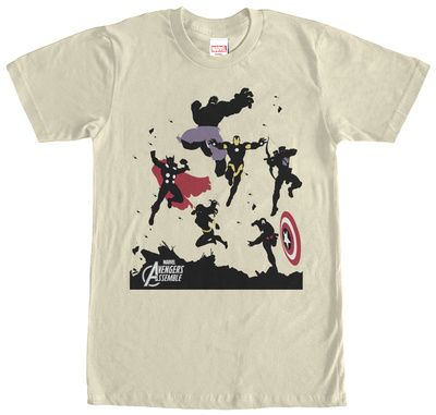 Avengers- Group Silhouettes T-shirts