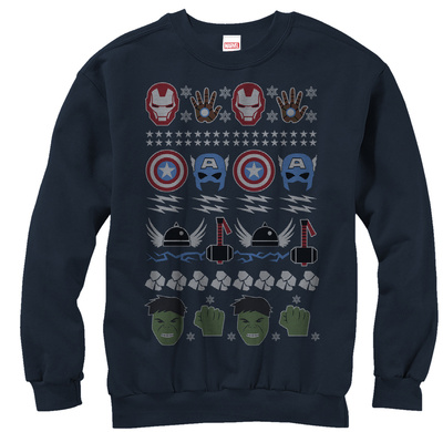 Crewneck Sweatshirt: Avengers- Ugly Avengers Sweater T-Shirt