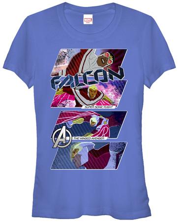 Juniors: Avengers- Falcon Winged Avenger T-Shirt