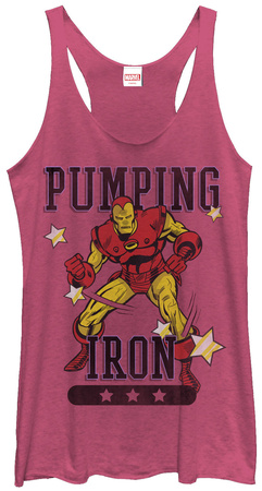 Juniors Tank Top: Iron Man- Pumping Iron T-Shirt