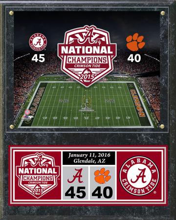 Alabama Crimson Tide 2015 National Champions Plaque Wall Sign