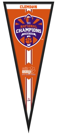 Clemson Tigers 2015 National Champions Pennant Framed Memorabilia