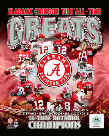 University of Alabama Crimson Tide All Time Greats Composite Photo