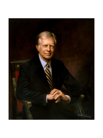 Presidential Portrait of Jimmy Carter Poster by  Stocktrek Images