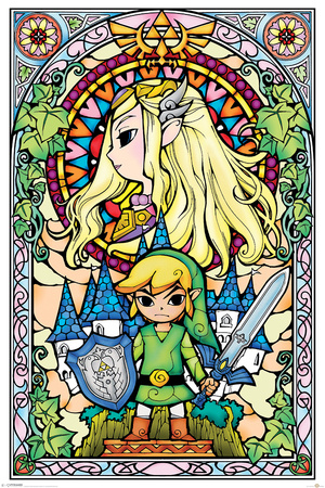 The Legend Of Zelda- Stained Glass plakat
