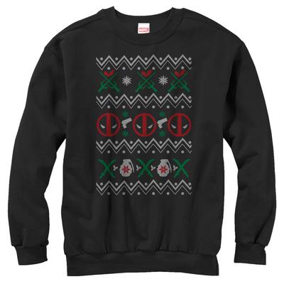 Crewneck Sweatshirt: Deadpool- Deadly Sweater T-Shirt