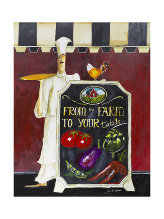 Farm to Table Giclee Print by Jennifer Garant