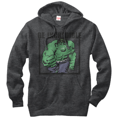 Hoodie: Incredible Hulk- Be Incredible Pullover Hoodie