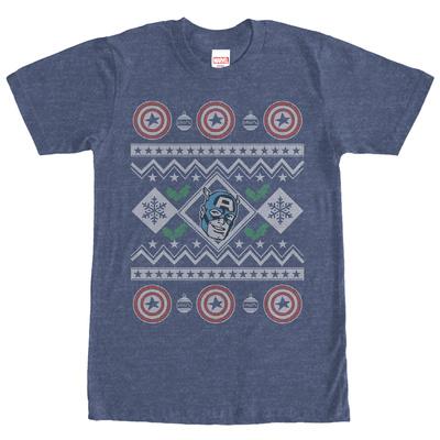 Captain America- Christmas Cheer Sweater T-Shirt