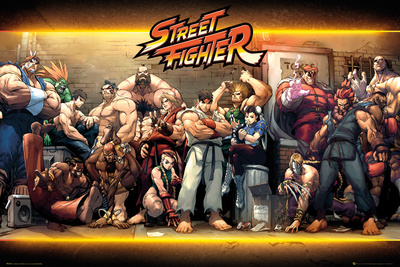 Street Fighter- Characters Poster