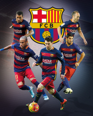Barcelona- Star Players Print