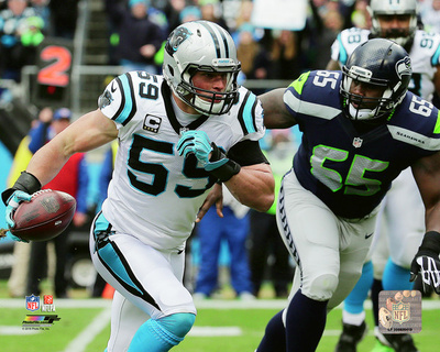 Luke Kuechly touchdown 2015 NFC Divisional Playoff Game Photo