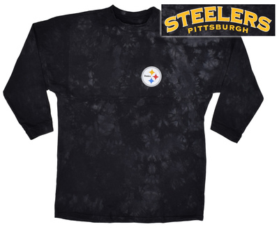 Long Sleeve: NFL: Steelers- Gridiron (Front/Back) Long Sleeves