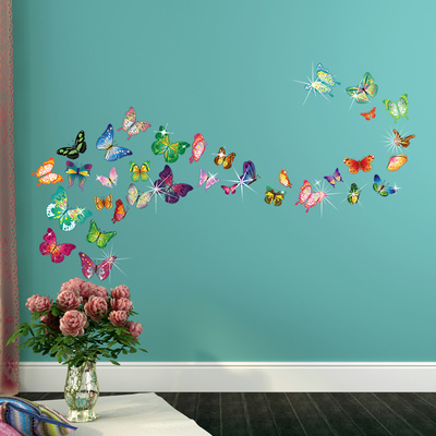 Butterflies with Swarovski Crystal Accents Wandtattoo